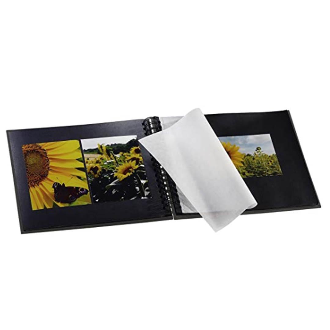 Hama-Fine-Art-Album-de-fotos-50-paginas-negras-25-hojas-album-con-espiral-28-x-24-cm-interior